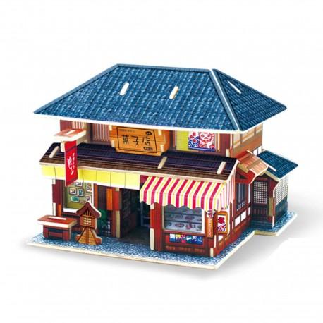 Puzzle 3D en bois - Wagashiya
