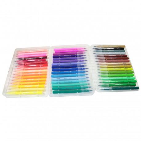 Kit stylos pinceaux 48 couleurs