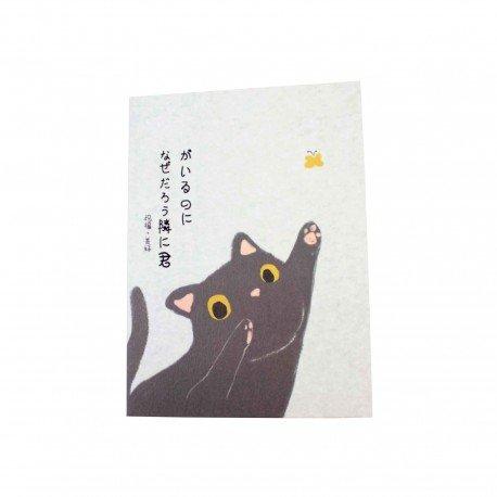 Carte de voeux kawaii neko avec enveloppe