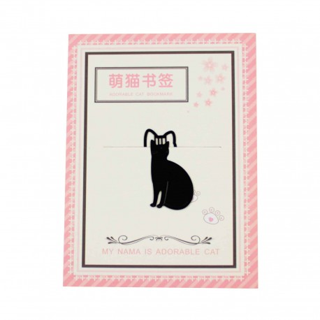 Marque pages Adorable chat noir