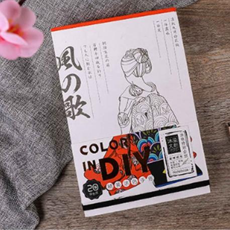 Carnet de coloriage Kaze no Uta