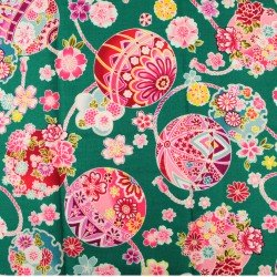 Tissus japonais motif Temari