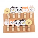 Lot de 10 pinces bouilles animaux kawaii