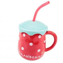 Grand mug rouge fraise