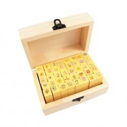 Boîte de 40 minis tampons kawaii