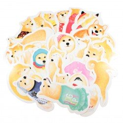 Lot de 5 cartes kawaii chien Shiba Inu
