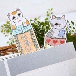 Marque pages chats et lecture