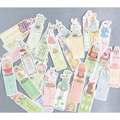 Marque pages Lapin kawaii