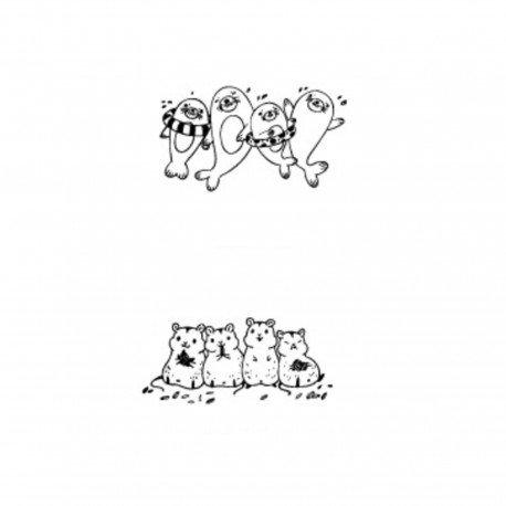 Tampon en bois Animal kawaii