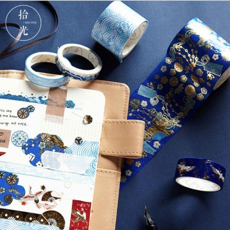 Lot de 5 washi tapes motif japonais
