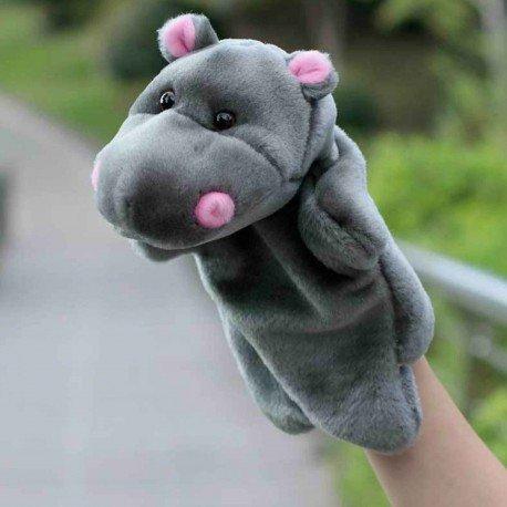 Peluche marionnette Hippopotame