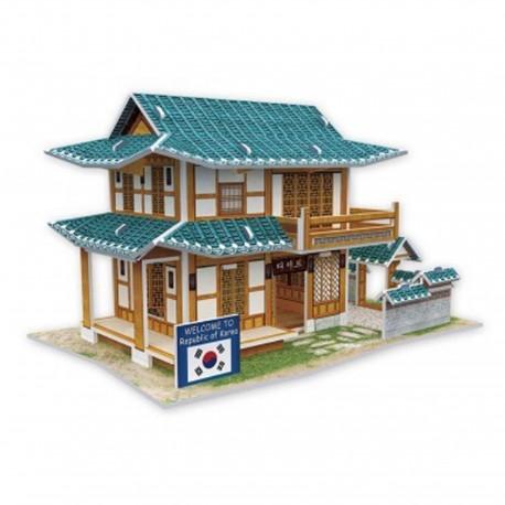 Puzzle 3D salon de thé coréen