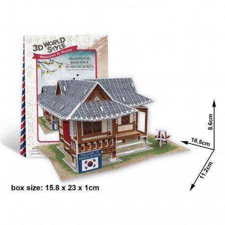 Puzzle 3D maison coréenne