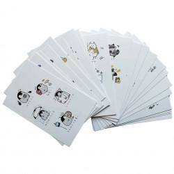 Lot de 5 cartes kawaii Tango