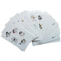 Lot de 5 cartes kawaii Tango