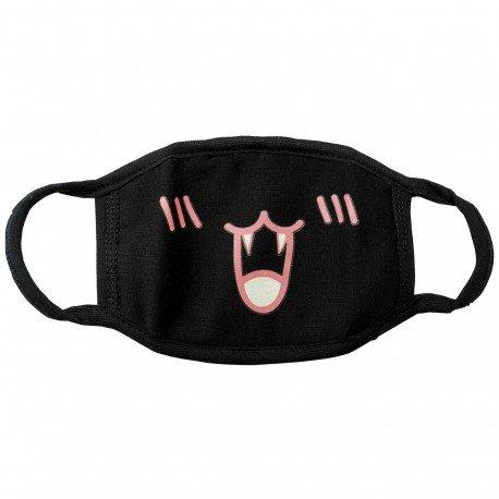 Masque emoji noir 8