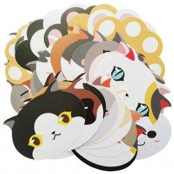 Lot de 5 cartes Bouille de chat et patte