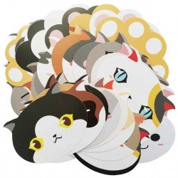 Lot de 5 cartes Bouille de chat et patte