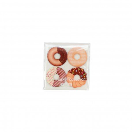 Mini marque pages repositionnables index en forme de donuts