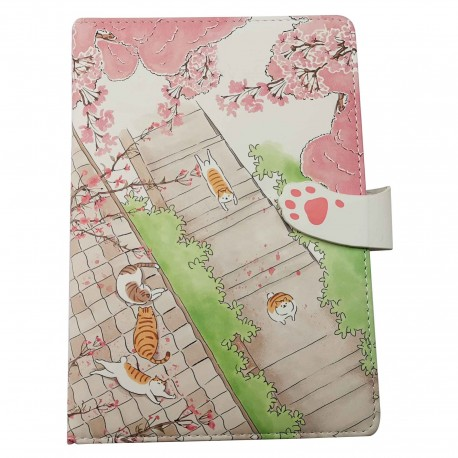 Carnet kawaii chat sous le sakura