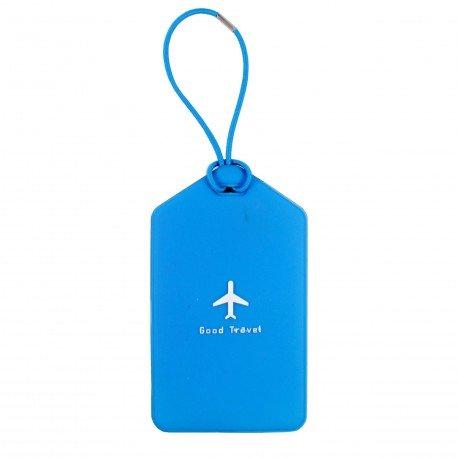 Porte-Etiquette nom & adresse bagage bleu