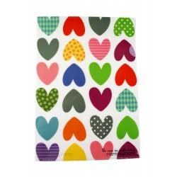 Chemise documents A4 en plastique Coeurs S