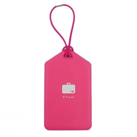 Porte-Etiquette nom & adresse bagage rose