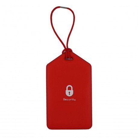 Porte-Etiquette nom & adresse bagage rouge