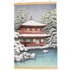 Kakemono Pavillon sous la neige