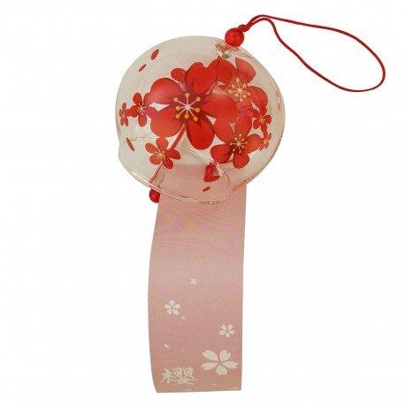 Carillon Furin fleur rouge