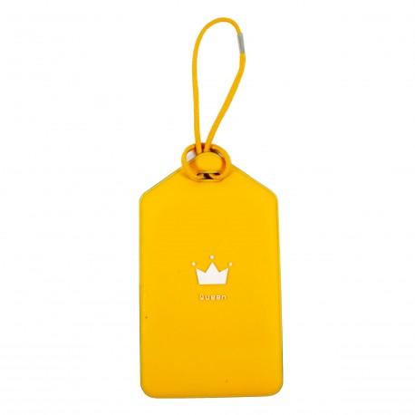 Porte-Etiquette nom & adresse bagage jaune