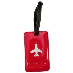 Porte-Etiquette nom & adresse bagage Happy Flight fushia