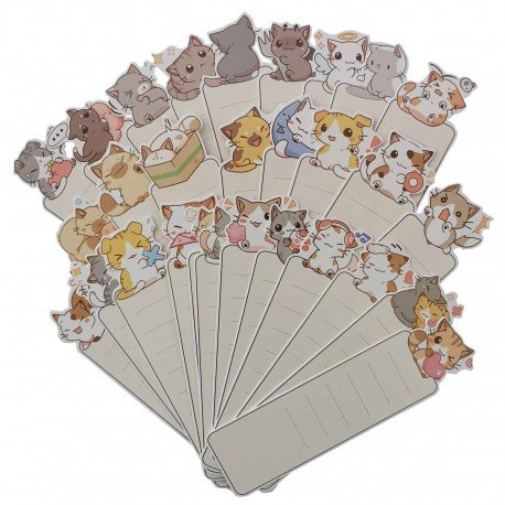 Marque page kawaii chat