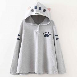 T-shirt gris chat
