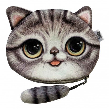 Porte monnaies chat avec queue