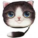 Porte monnaies chat aux yeux bleus