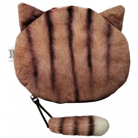 Porte monnaies chat brun tigré