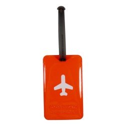 Porte-Etiquette nom & adresse bagage Happy Flight orange
