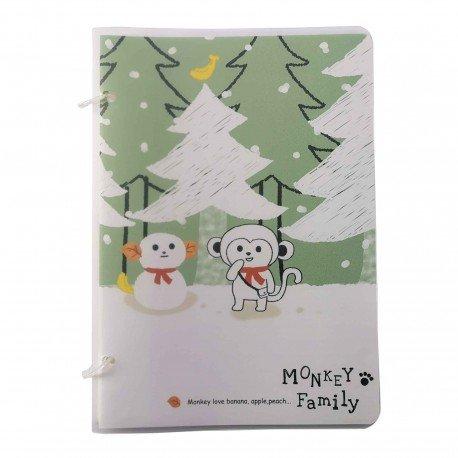 Cahier Monkey family