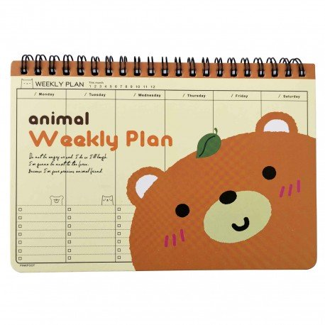 Agenda planner libre Ours