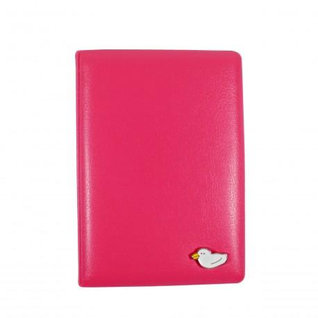Porte passeport - Petit canard - rose
