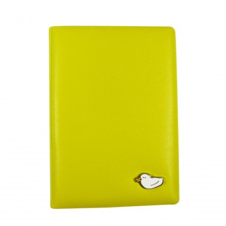Porte passeport - Petit canard - jaune