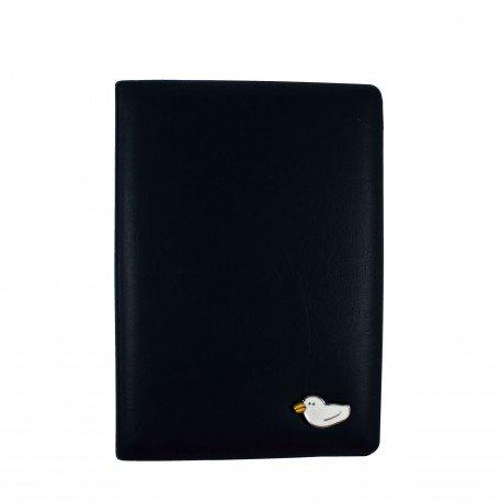 Porte passeport - Petit canard - noir