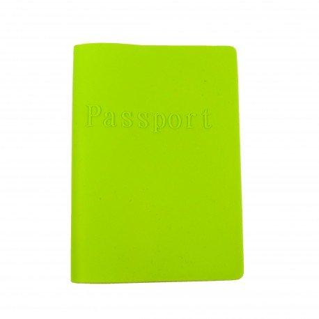 Porte passeport en silicone - vert pomme