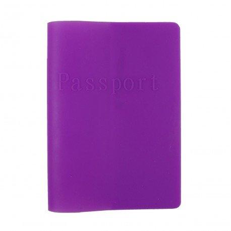 Porte passeport en silicone - violet