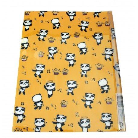 Chemise documents A4 en plastique Panda