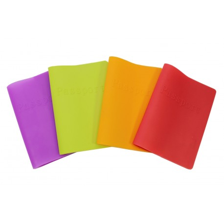 Porte passeport en silicone - rouge