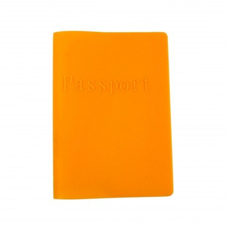 Porte passeport en silicone - orange