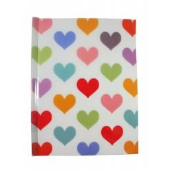 Chemise documents A4 en plastique Coeurs L