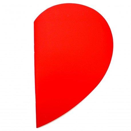 Cahier demi petit coeur rouge